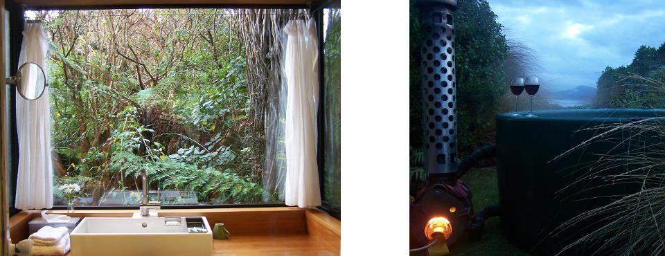 Lodge bathroom - and Hot Tub prepared