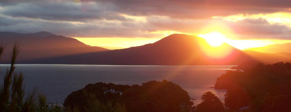 Sunset at Observation Rock Lodge